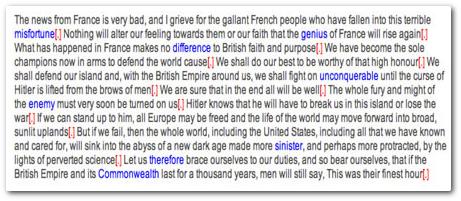 Churchill speech