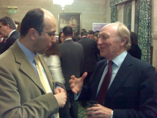 Lord Neil Kinnock, BC Chair and Krešimir Macan, London, February 2008.