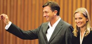 Borut Pahor i Katarina Kresal