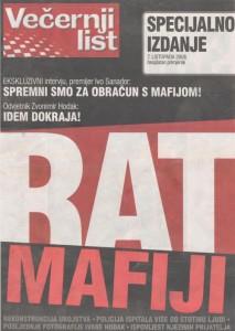 Rat mafiji - posebno besplatno izdanje Večernjeg lista