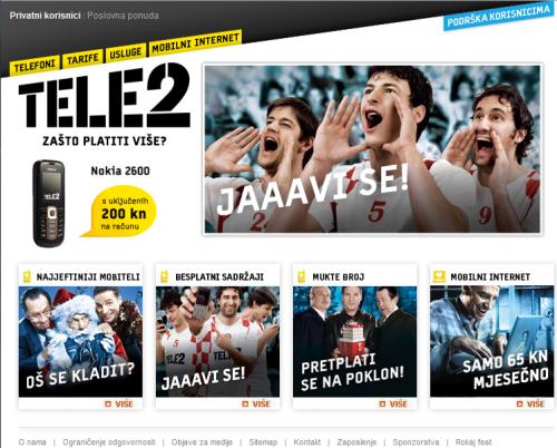 JAVI SE - TELE 2 reklamna kampanja