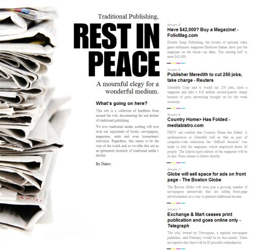 On line osmrtnica novinskom nakladništvu