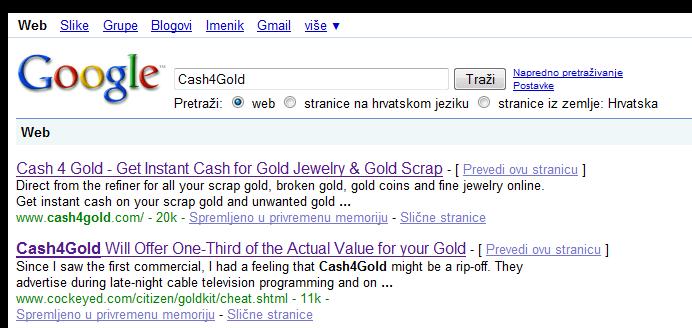 cash4gold-google-pretrazivanje
