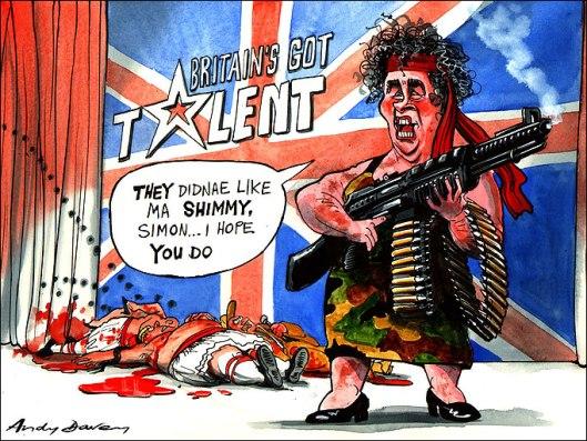 Karikatura Susan Boyle