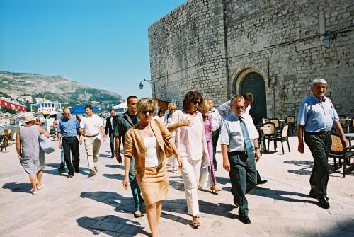 Ivica Račan u posjetu Dubrovniku 2003.
