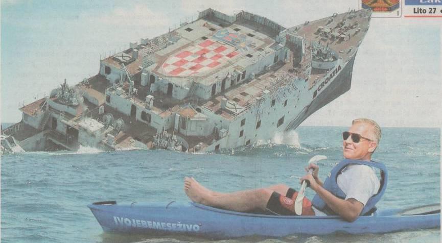 Ivo Sanader kad naš brod tone