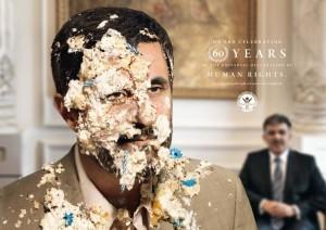 Ahmadinejad dobio tortu u lice