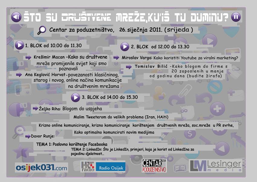 Osijek seminar društvene mreže dumina