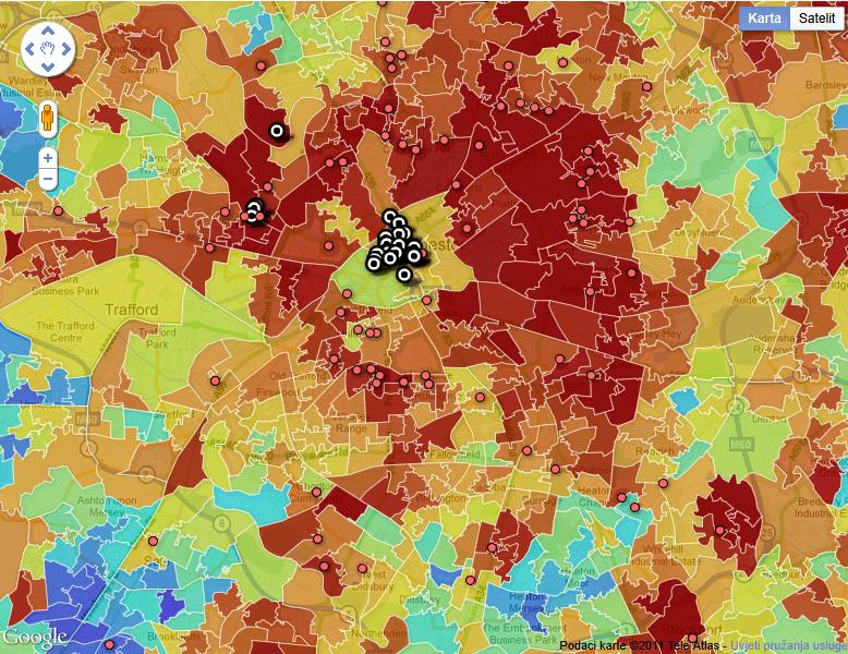 Nemiri u Velikoj Britaniji - osumnjičenici vs mapa siromaštva ima li slučajnosti