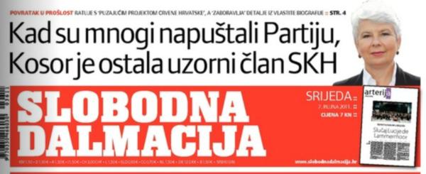 Jadranka Kosor SD naslovnica SKH