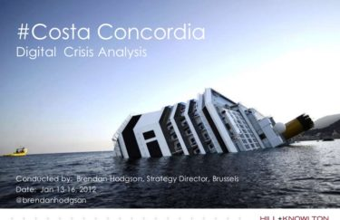 Krizno komuniciranje – Costa Concordia i muke po komunikaciji