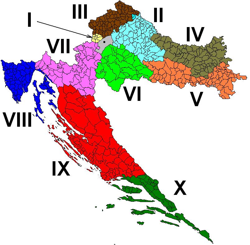 Izborne jedinice u Hrvatskoj parlamentarni izbori izvor: pollitika.com