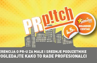 Prva Konferencija o PR-u za male i srednje poduzetnike –  PR Pitch, 4. svibnja 2017, CineStar Zagreb (Branimir centar)