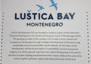 Lustica Bay Sign