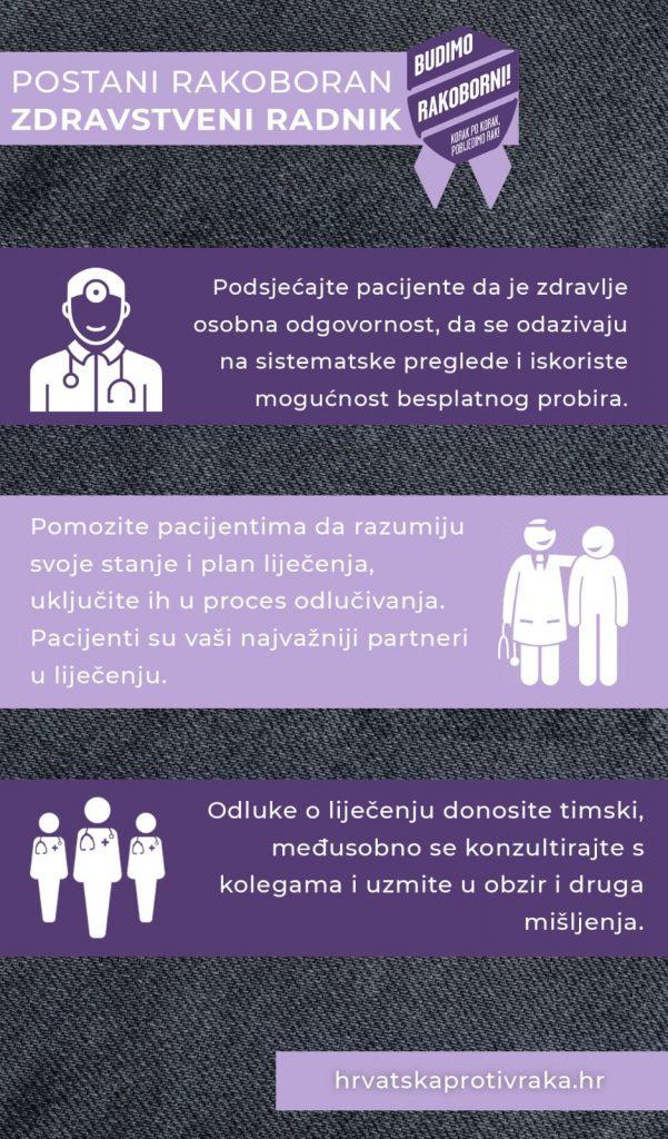 Rakoborci - Hrvatska protiv raka: Šalabahter za zdravstvene radnike